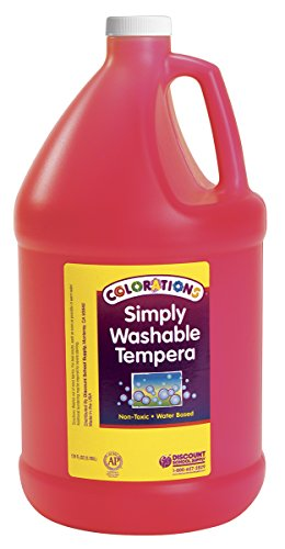 Colorations GWSTRE Colorations Simply Washable Tempera Paint, Red (Pack of 1) (Tempera Paint Red)