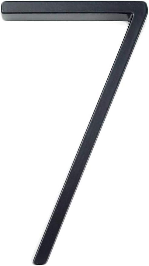 #0-9 Negro Aoforz-ASHENGTAIQUBAIFANG 12cm Grande Moderna casa n/úmero Puerta casa n/úmeros de direcci/ón de casa n/úmero de casa Digital Puerta al Aire Libre letreros de 5 Pulgadas