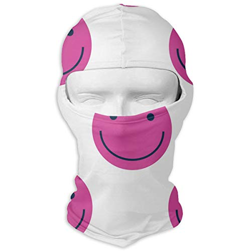 Balaclava Happy Face Pink Full Face Masks Ski Headcover Motorcycle Cycling Hiking