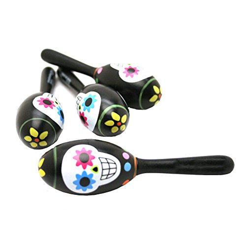 Day Of The Dead Maracas : package of 12 by Fun