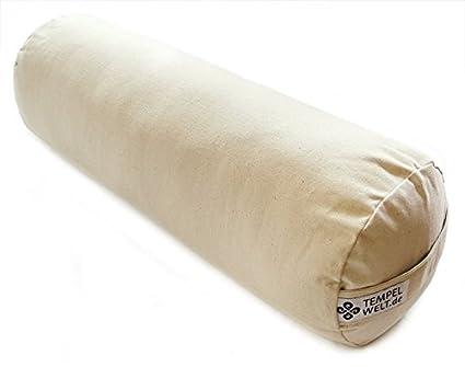 Cojín cilíndrico para yoga (tamaño grande 63 x 20 x 20 cm ...