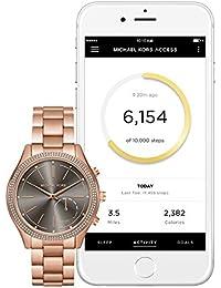 Access Hybrid Rose Gold Slim Runway Smartwatch MKT4005