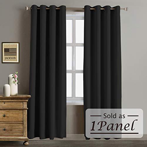 96 black curtain panel - 8