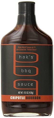 Hak's BBQ Sauce, Chipotle Bourbon Flavor, 15.5 Ounce