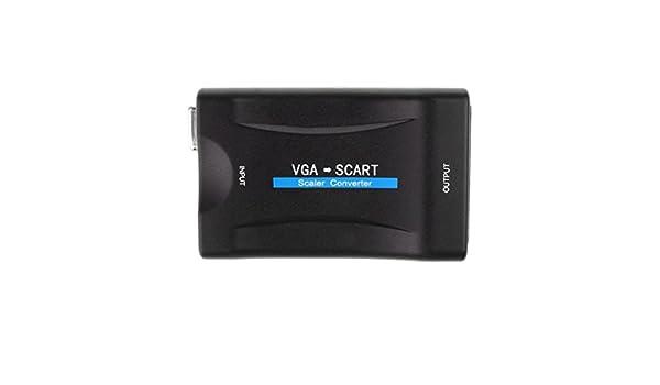 B Baosity VGA Al Adaptador SCART 1080P Video Scaler Converter Cable USB para Monitor HDTV: Amazon.es: Electrónica