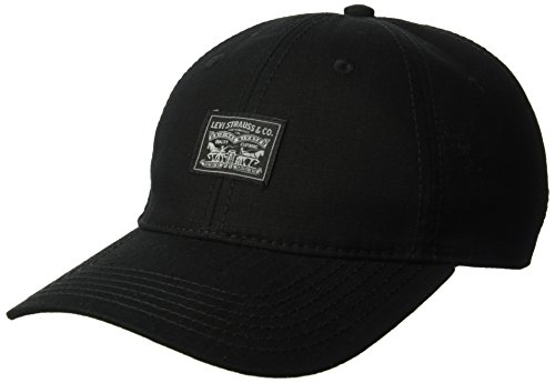 Levi's Men's Printed Curved Brim Baseball Hat, Black, One Size