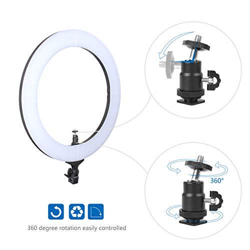 ZOMEi 18'' Dimmable LED Ring Light for Makeup Selfie Photographic Ring Light by ZOMEi (Image #7)