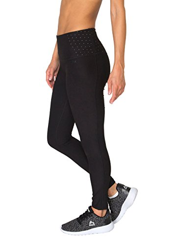 RBX Active Women's Body Contouring High Waisted Athletic Performance Leggings L Black/Grey