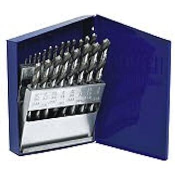 Irwin Industrial Tools 63221 Cobalt Fractional Straight Shank Jobber Length Metal Index Drill Bit Set, 21-Piece