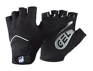 Elite Cycling Gloves Gel Fingerless Short Racing Cycle Gloves Black M