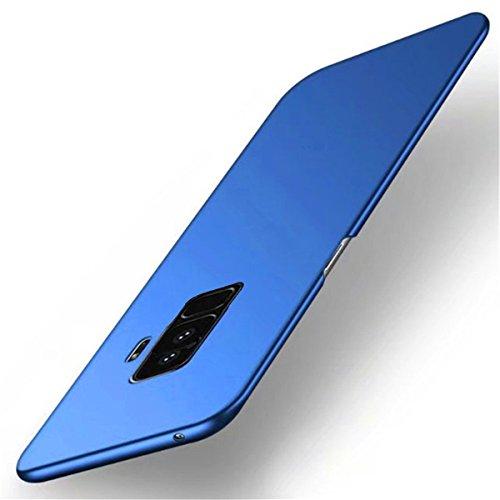 Coque Samsung Galaxy S9, Galaxy S9 Plus Case Ultra Slim Légère Case Adamark Anti-Scratch Thin Protection Housse Bumper Récurer PC Rigide Étui Back Shell Pour Samsung Galaxy S9/S9 Plus 2018 (Galaxy S9 Bleu
