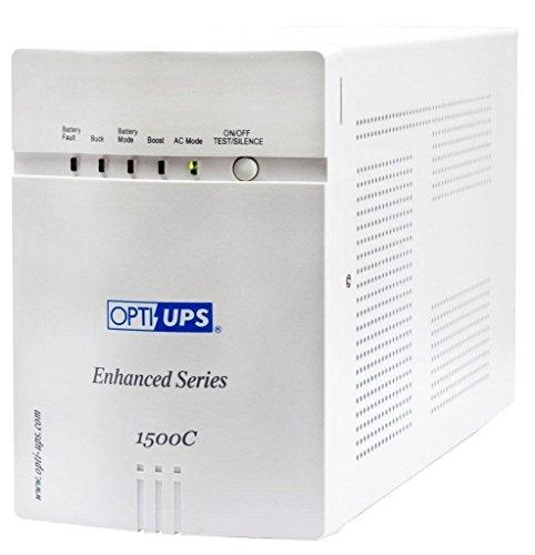 Opti UPS ES1500C-2X 220V/230V/240V IEC (1400VA) Enhanced Series Line Interactive Uninterruptible Power Supply UPS Battery Backup (RS232 Port) ()