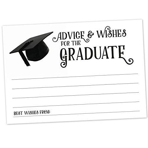 (Graduation Advice Cards (50 Count) - Advice and Well Wishes for The New Graduate - High School, College, University, Grad School - Commencement Reception Wish)