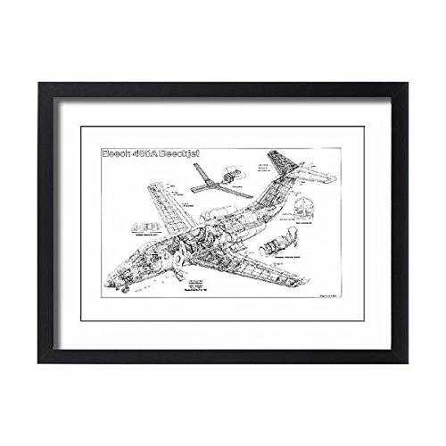 Framed 24x18 Print of Beechjet 400A Cutaway Poster (1569927) 400a Frame