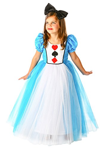 White Queen Costume From Alice In Wonderland (Princess Alice in Wonderland Costume, Small (5-6))