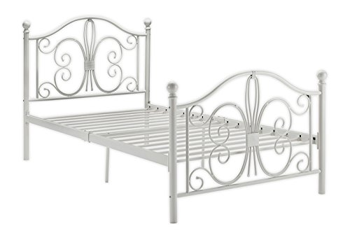 Amazon Com Dhp Bombay Metal Bed Twin White Kitchen Dining