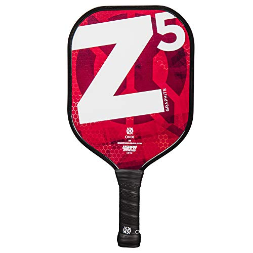 ONIX Graphite Z5 Graphite Carbon Fiber Pickleball Paddle with Cushion Comfort Grip from Escalade Sports