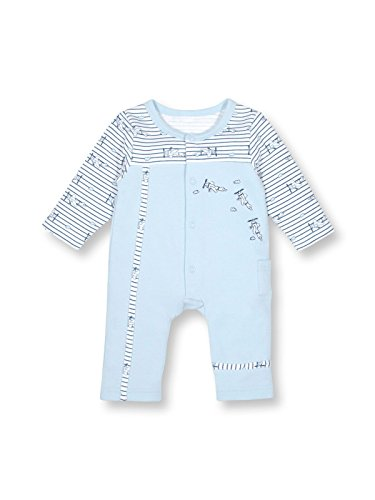 Le Top Bebe Just Plane Fun Baby Boy Coverall Onesie With Airplane Embroidery (Le Top Boys Coverall)