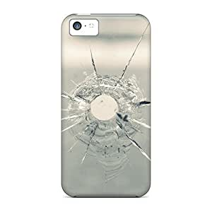 High Grade ConnieJCole Flexible Tpu Case For Iphone 5c - Bullet Hole