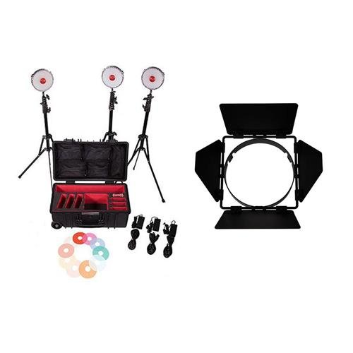Rotolight NEO-II 3 Light Kit - With Rotolight NEO Barn Door by ROTOLIGHT