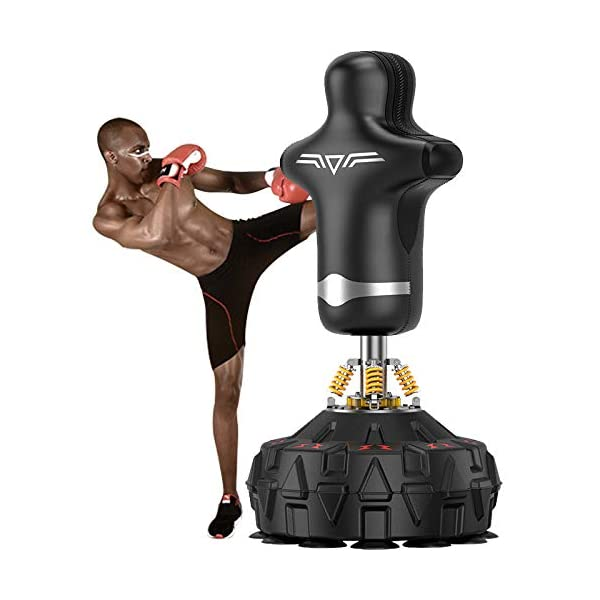 RJJBYY-Standing-Punch-Bag-Heavy-Duty-Punching-Bag-with-Strong-Suction-Base-Fitness-Kick-Punching-Training-Dummy-for-Kick-Boxing-Martial-Ats-Excellent-Dummy