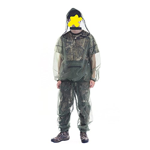 Clothing Protective Mosquito (GOGO Bug Repellent Clothing Jacket And Pants Protection Suit-XXL)