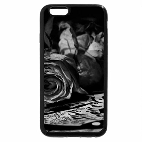 iPhone 6S Plus Case, iPhone 6 Plus Case (Black & White) - Glamorous Roses