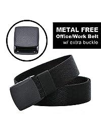 MiDezigns Airport Friendly Metal Free Nylon Tactical Belt (Office Black)
