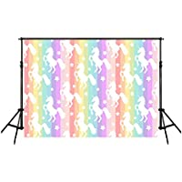 HMT 7X5ft (220cmX150cm)Unicorn Backdrop Party background Cute Rainbow Baby Background Backgrounds for Studio Photo