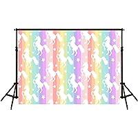 HMT 7X5ft (220cmX150cm)Unicorn Backdrop Party background Cute Rainbow Baby Background Backgrounds for Studio Photo