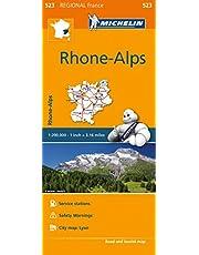 Michelin France: Rhone-Alpes Map 523
