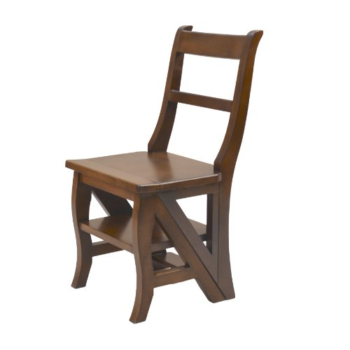 Carolina Cottage Chestnut Finish - Carolina Chair & Table 1617-NC Benjamin Library Ladder Chair, Chestnut