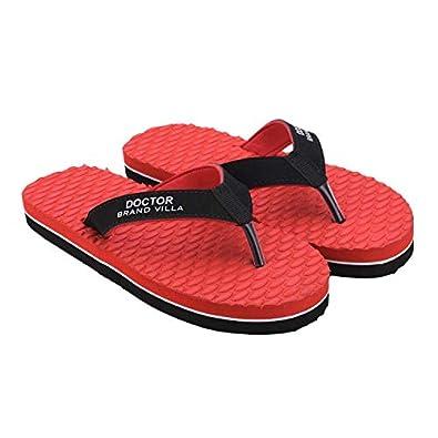 BRAND VILLA Ortho Care Orthopaedic Comfort Slipper, Flip-Flop and House Slipper for Men's (Aqua)