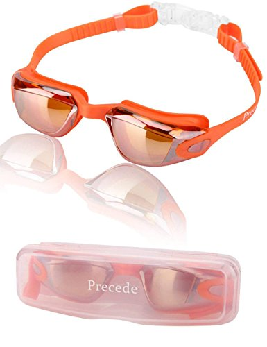 Kids Swim Goggles, 3-15 Girls Boys Unisex Children, No Leaking, Anti-Fog, High Clear Underwater, UV Protection, Firm Suction, Comfortable, Adjustable Strap + Protective Box, Toddler Swimming Goggles