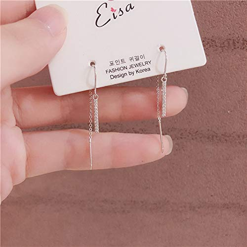 Romanly 2019 Korean Star New Hot Trendy Zircon Drop Earrings For Women Fashion Jewelry Micro Paved Boucle D'oreille Gifts,13 silver color