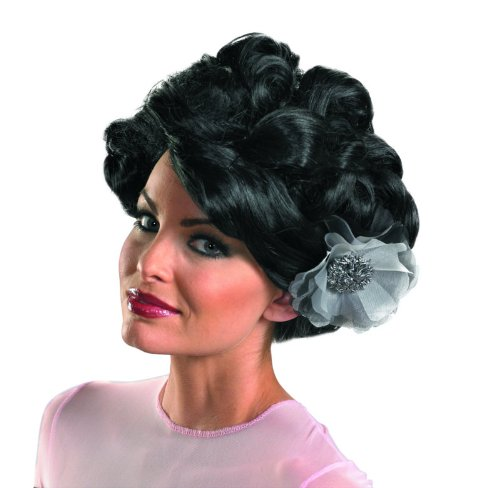 [Disguise In The Shadows Dark Bloom Deluxe Wig, Black, One Size] (Dark Shadows Halloween Costumes)