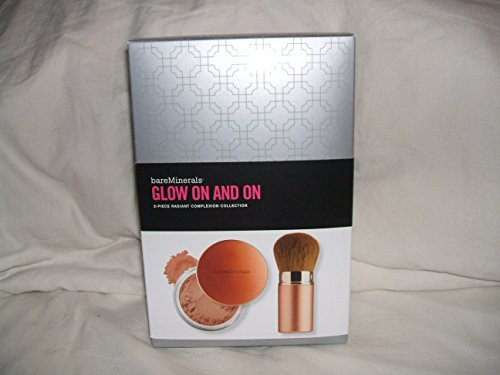 bareMinerals Bronzing GLOW ON AND ON mineral veil Broad Spectrum SPF 25 net wt 20g /0.7 oz with a champagne retractable kabuki (Bare Escentuals Retractable Face Brush)