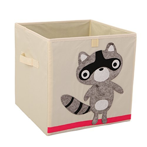 Murtoo Storage Bins Foldable Fabric Cubes Organizer for Kids Toys, Raccoon, 11''