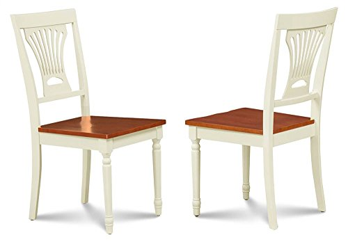 M&D Furniture Side Chair in Cherry and Buttermilk Finish - Set of 2 ()