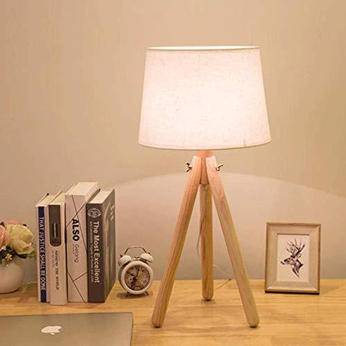 JLZS Nordic Tischlampe Schlafzimmer Nachttisch Schreibtisch Hotel Zimmer Engineering Benutzerdefinierte Loft Kreative Einfache Tischlampe (Farbe   Beige-Netzschalter-Taste)
