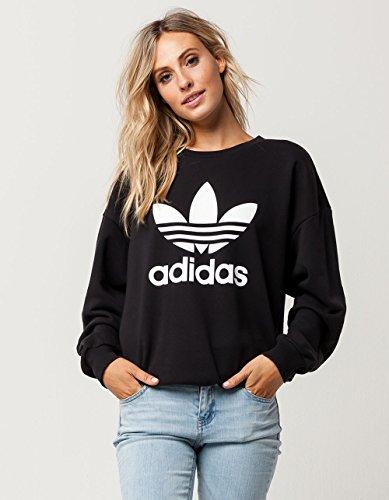 adidas Originals Women's Outerwear | Trefoil Sweatshirt, White, Small