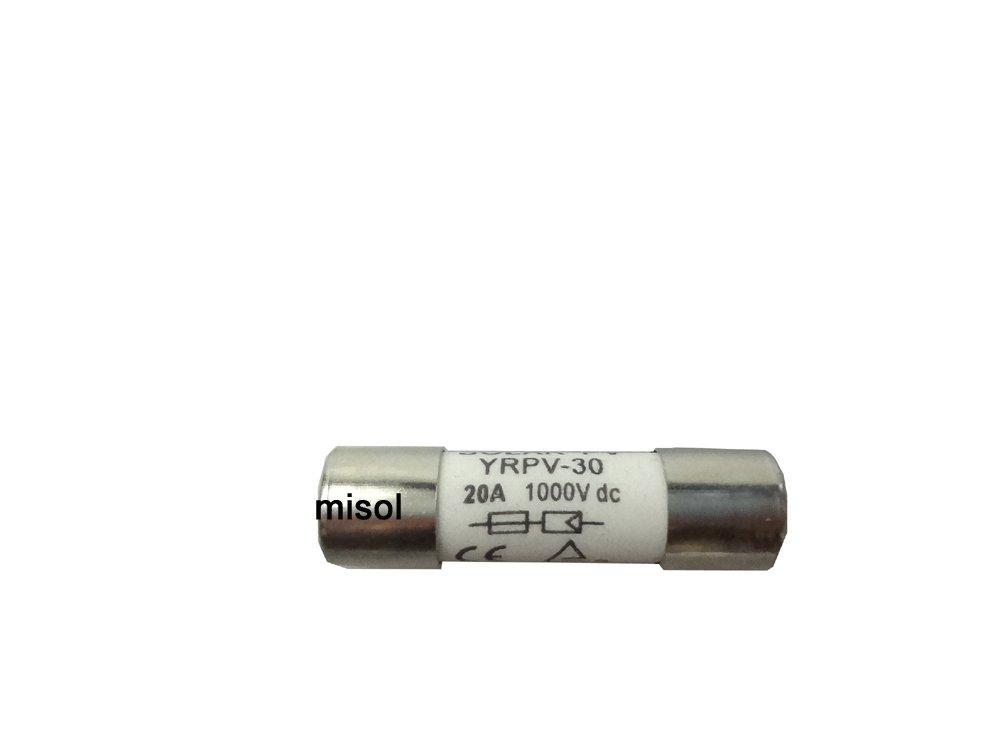 MISOL 1 unit of PV solar fuse 20A 1000VDC fusible 10x38 gPV/Solare fotovoltaico fusibile da 20A 1000VDC fusibile 10x38 gPV
