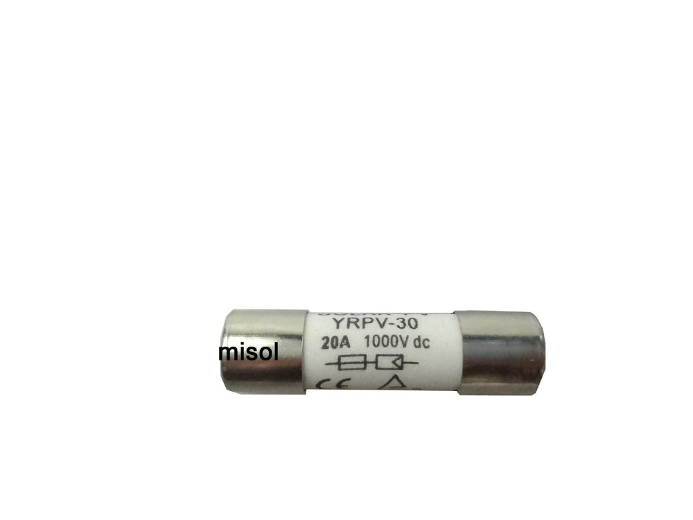 MISOL 10 units of PV solar fuse 20A 1000VDC fusible 10x38 gPV