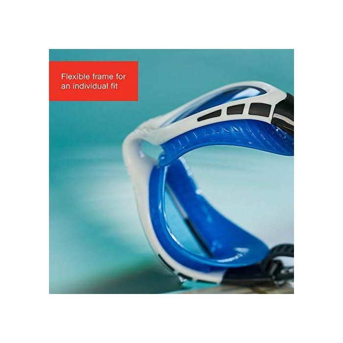 41CyVV22PCL Los nuevos bordes flexibles supersuaves ofrecen una gran flexibilidad para un ajuste más suave y más acolchado Con la tecnología Speedo Biofuse para una comodidad acolchada siempre que nades El marco flexible se adapta a los contornos de tu rostro para un ajuste individual