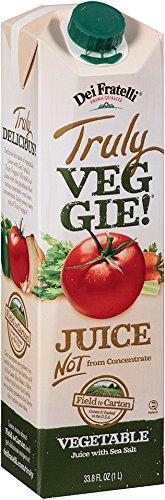Dei Fratelli - Truly Veggie! Juice - 33.8 Fl. Oz - 6 Pack (Dei Fratelli Tomato Juice compare prices)