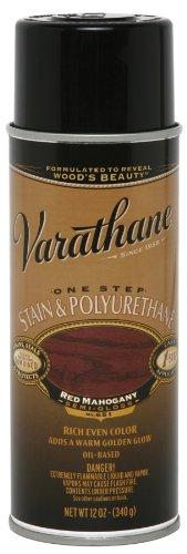 Varathane 243867 12 Oz Red Mahogany 1Step Oil Base Stain & Polyurethane Spray