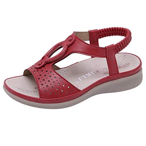 2019 Summer Deal! Vielgluck Flat Sandals for Children Bohemian Open Toe Summer Fashion Waterproof Anti-Slip Hollow Beach Shoes