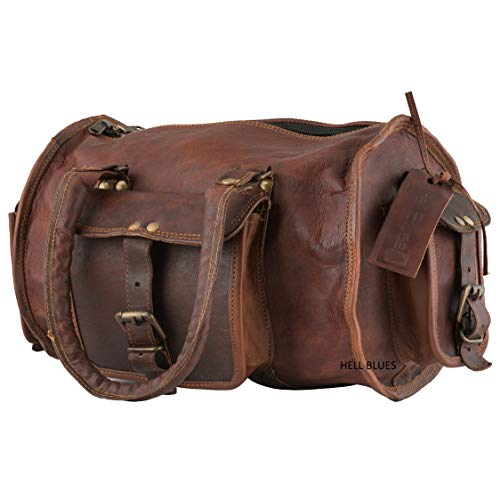 Sports Leather handmade Duffel Bag by Hell blues ()