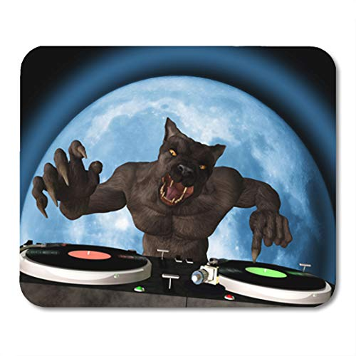 Semtomn Gaming Mouse Pad Lycan Dj Werewolf is in The House and Mixing Up 9.5