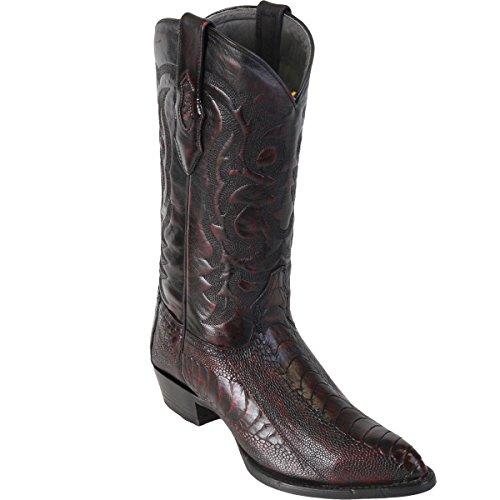 Black Cherry Ostrich Leg (Original Black Cherry Ostrich Leg LeatherJ-Toe Boot)